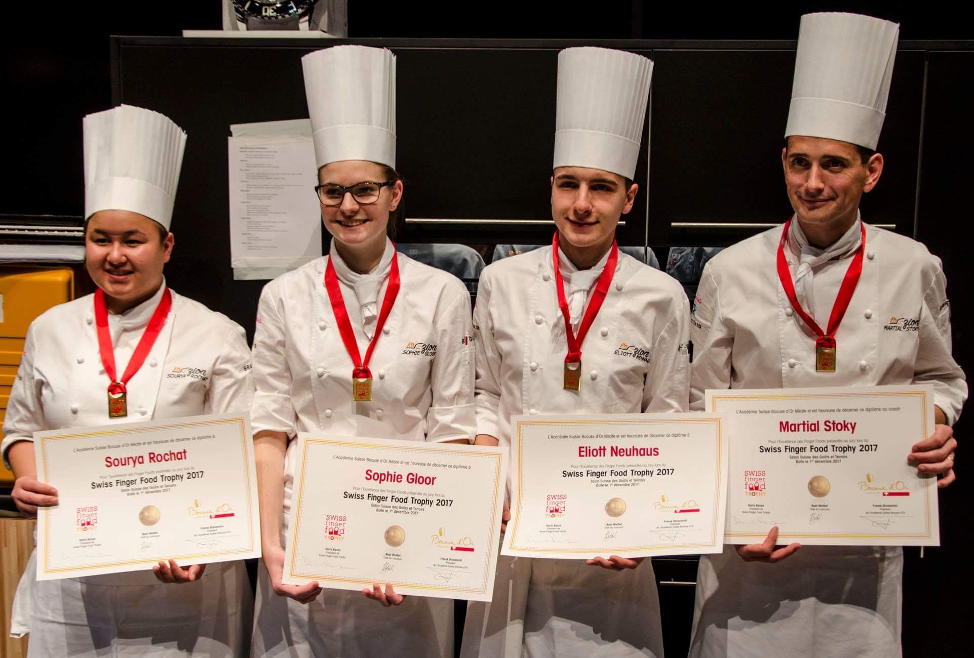 Swiss Finger Food Trophy première place
