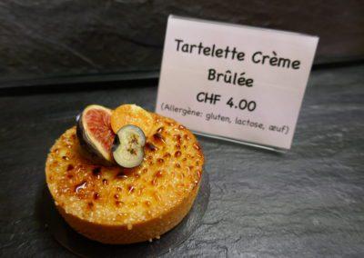 Tartelette à la crème brûlée