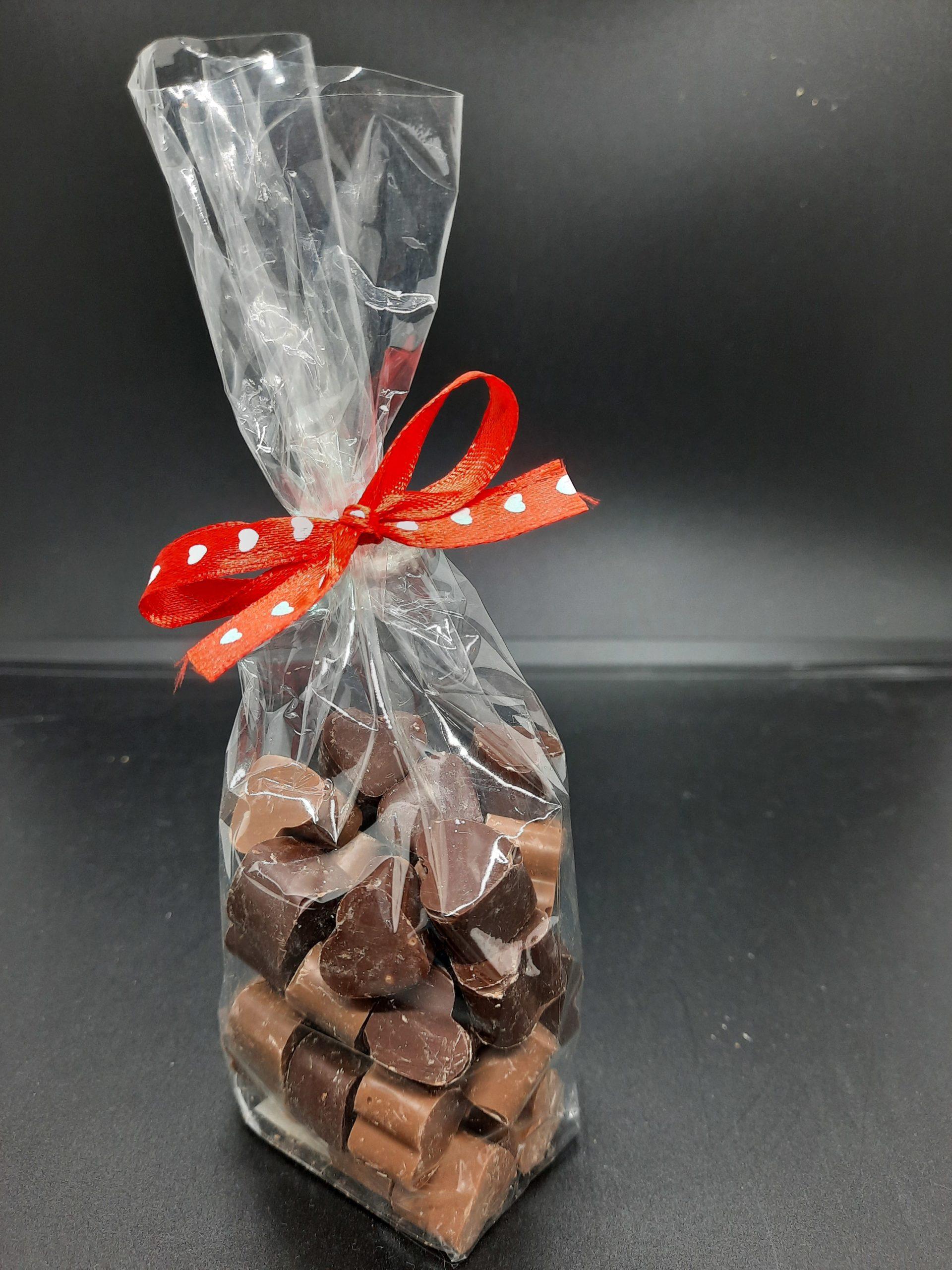 Minis cœurs en chocolat