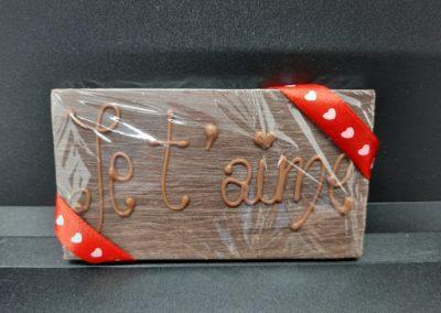 Plaque chocolat je t'aime