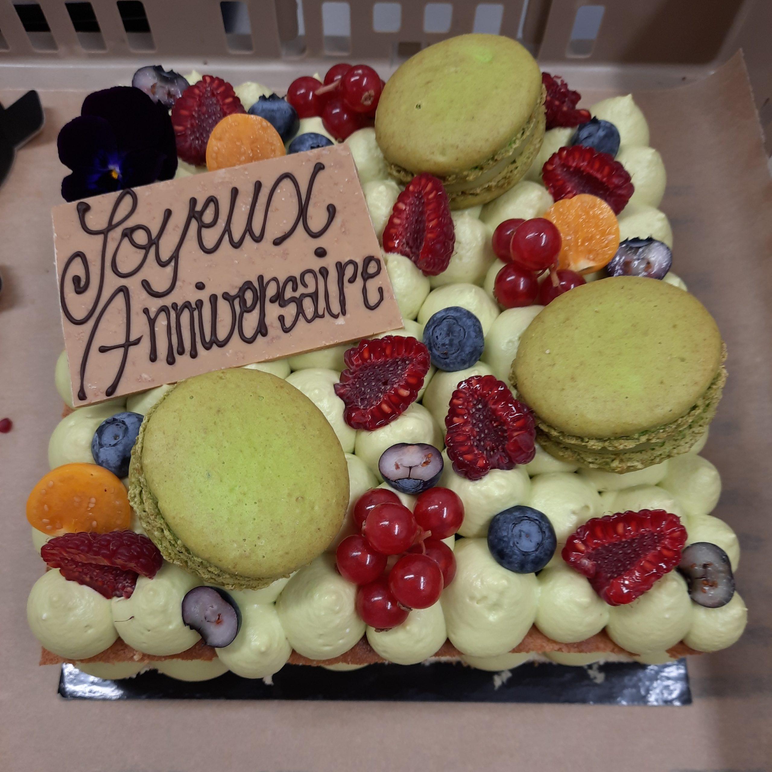 Tourte façon number cake pistache