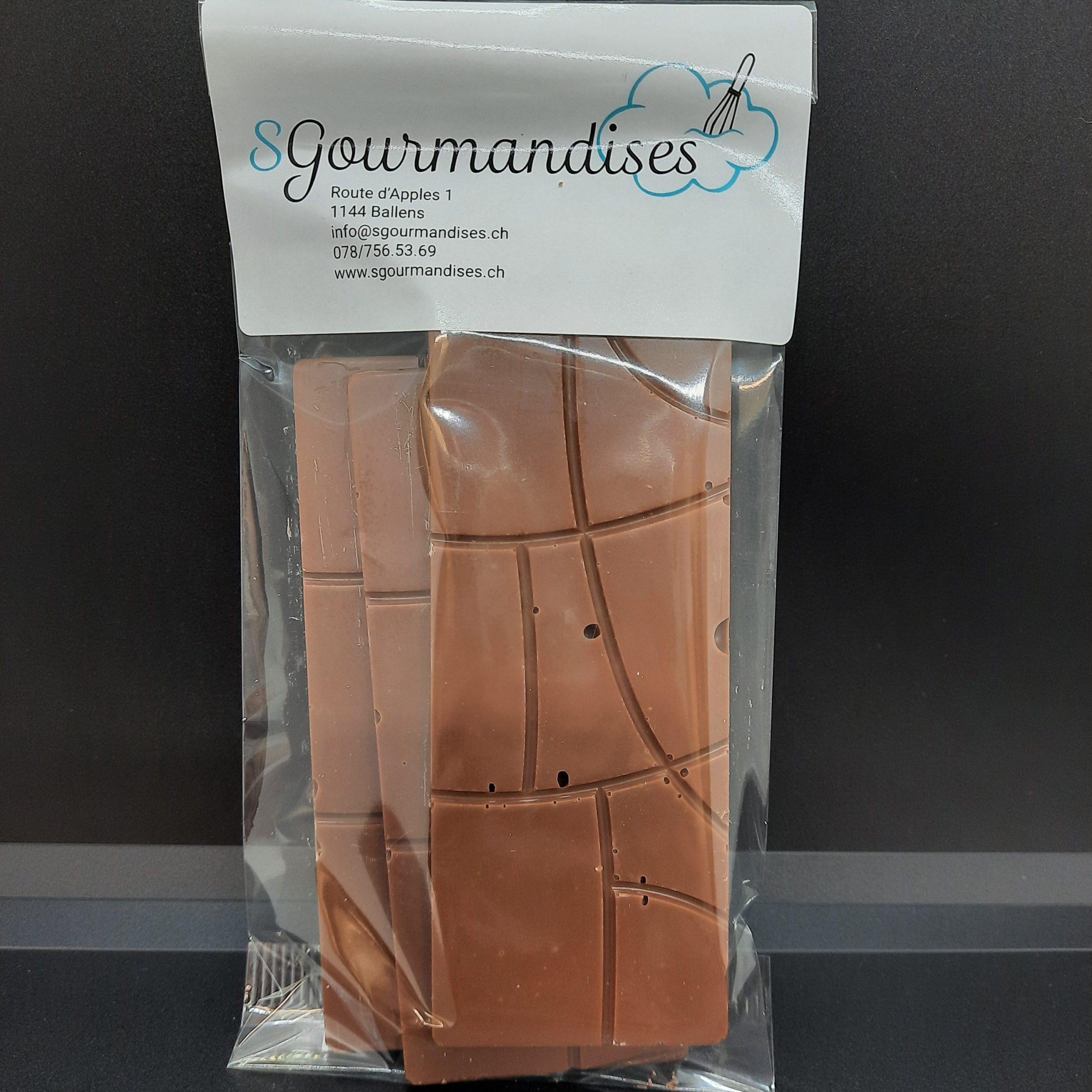 Plaques chocolat lait